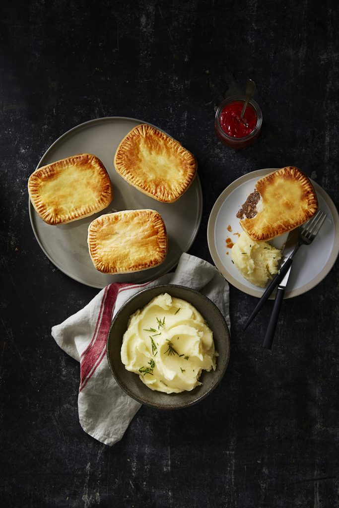 Ferguson Plarre's Beef Pies with Perfect Mash Recipe