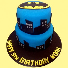 Surprising Batman Custom Cake Personalised Birthday Cards Veneteletsinfo