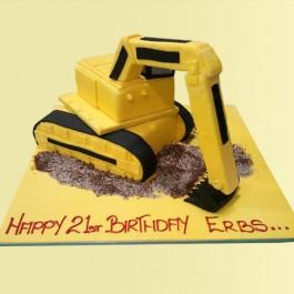 Digger Custom Cake | Tuggl
