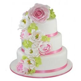 Floral Cascade Wedding Cake | Tuggl