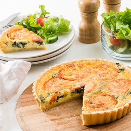 Family_Tomato_&_Spinach_Quiche | Tuggl