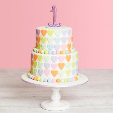 Hearts a Mess Celebration Cake