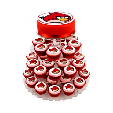 Angry Birds Red Bird Cupcake cake