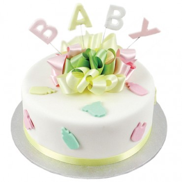 Baby Bottles and Bibs Cake