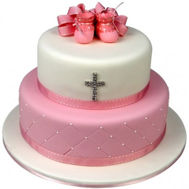 Booties Cake (Pink) - Two Tier