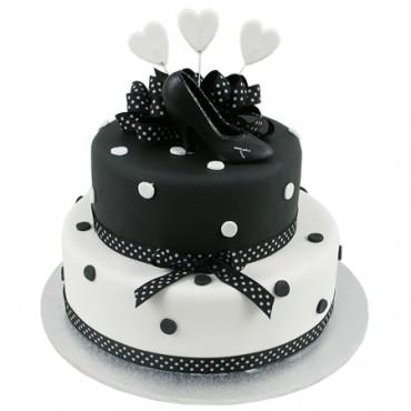 Polka Dot Shoe Cake