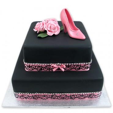 Silky Shoe Cake
