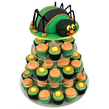 Spider Birthday Cupcake Cake