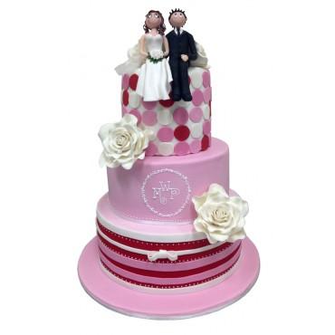 A Paris Affair Wedding Cake