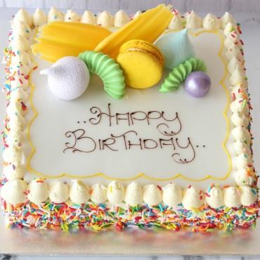 Birthday Vanilla Slice Cake