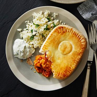 Butter Chicken pie meal