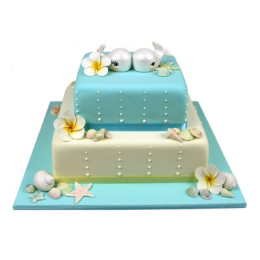 By The Seaside Wedding Cake