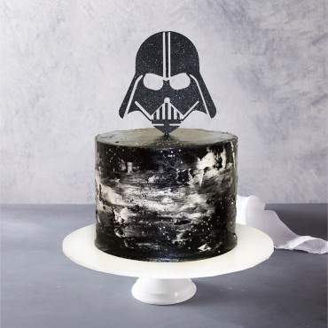 Darth Vader Topped Birthday Cake