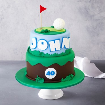 Golfing Custom Birthday Cake