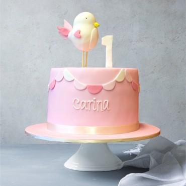 Little Birdy Birthday Cake