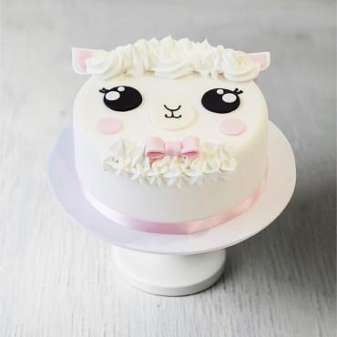 Little Lamb Birthday Cake