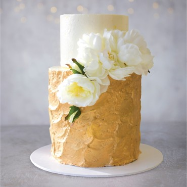 Gold Leaf Celebration Cake