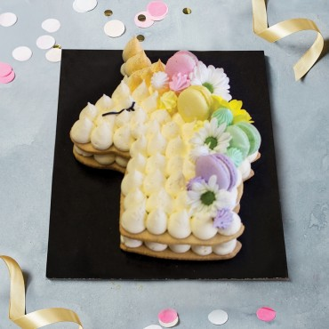 Unicorn Flowers Cookie Cake