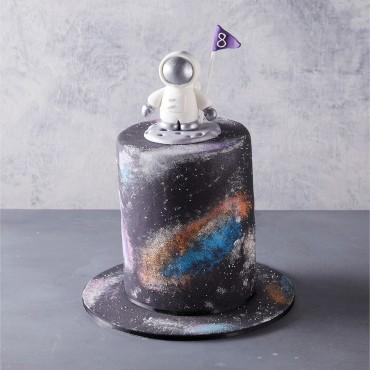 Spaceman Birthday Cake