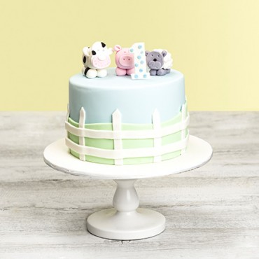 Farmyard Animal Custom Birthday Cake