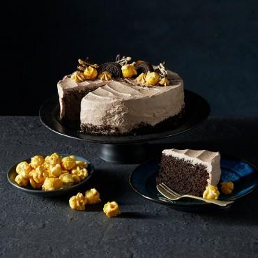 Father's Day Chocolate Caramel Vegan Cake