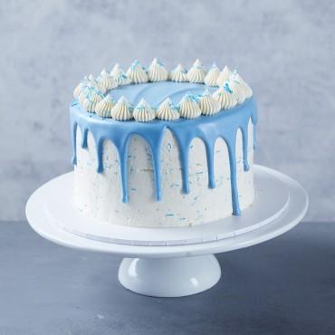 Flourless Blue Drip Cake