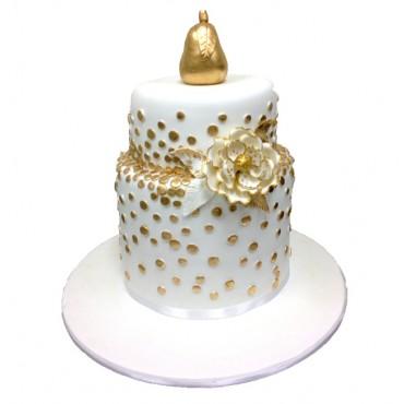 Golden Pear Wedding Cake