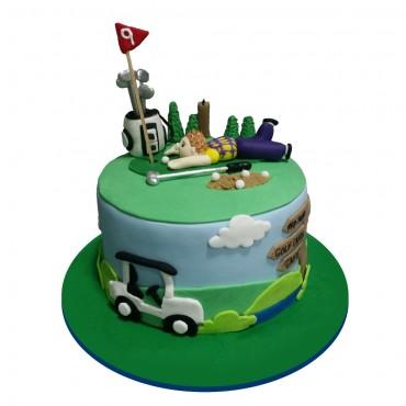Golfing Birthday Cake