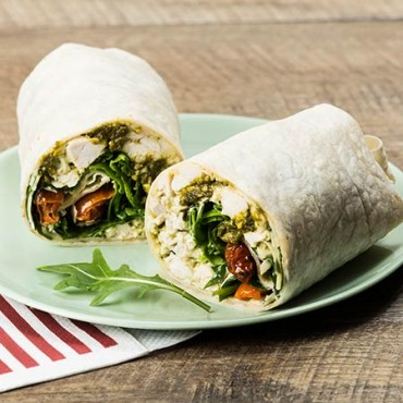 Italian Pesto Chicken Wrap