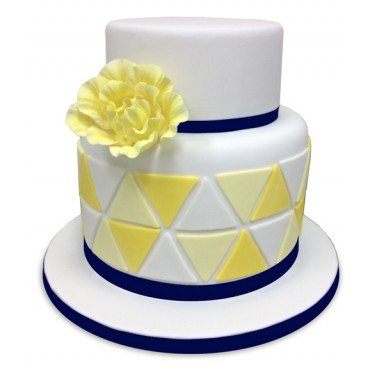 Love Triangle Wedding Cake