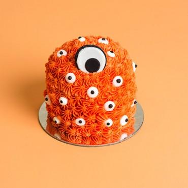 Mini Monster Drip Cake - Orange