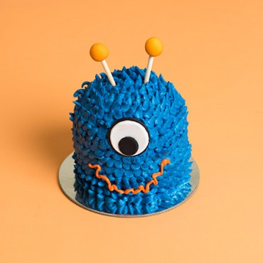 Mini Monster Drip Cake - Blue
