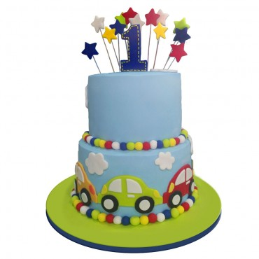 Mini Cars Birthday Cake