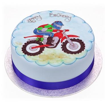 Motorbike Cake - Round