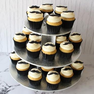 Moustache Cupcake Cake