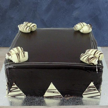 "Chocolate Ganache 13"" - square"