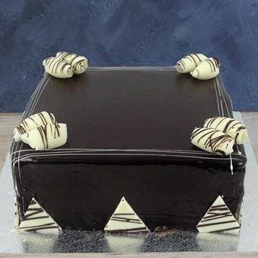 "Chocolate Ganache 13"" - square"
