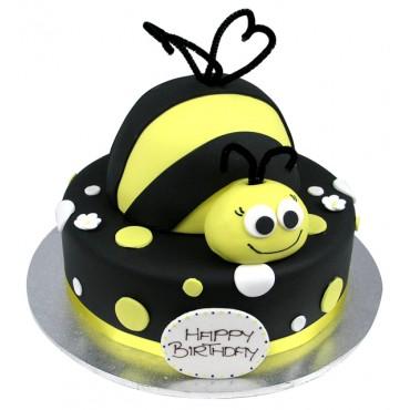 A Bumblebee Dot Cake