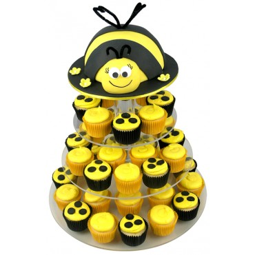 BumbleBee Birthday Cupcake Cake