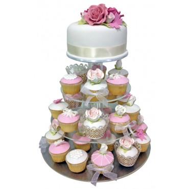 Parisian Charm Wedding Cake