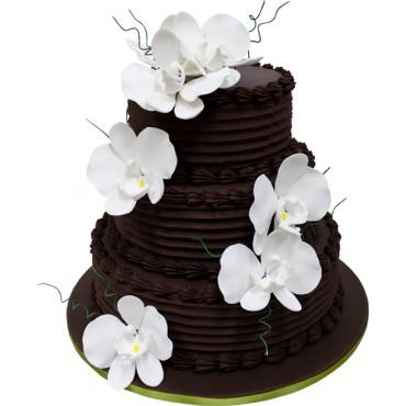Phalaenopsis Chocolate Cascade Wedding Cake