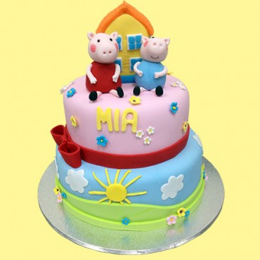 Pepper Pig Custom Cake