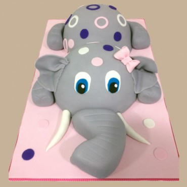 Pink Elephant Custom Cake