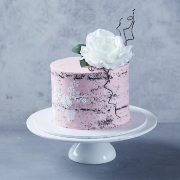 Pink Stencil Cake