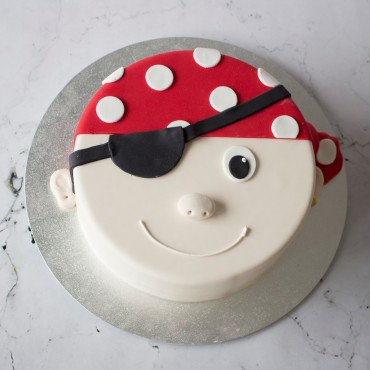 Pirate Face Birthday Cake