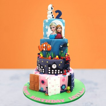 Kid's Cartoon Birthday Cake