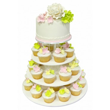 Springtime Bliss Wedding Cupcake Tower