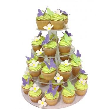 Sweet Butterfly Wedding Cupcake Tower