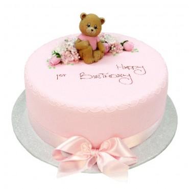 Teddy Bear in the Flowers Cake