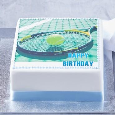 Tennis Photo Cake